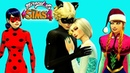 The Sims 4 Frozen Elsa and Miraculous Cat Noir Affection and Rescue Christmas Special