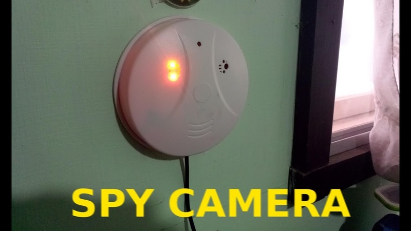 Spy Hidden Camera ZDMYING WiFi Smoke Detector Camera, HD1080 Motion Detection Loop Recording Remotel
