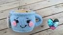 Taza de te tejida a crochet paso a paso Teje con Lidia!