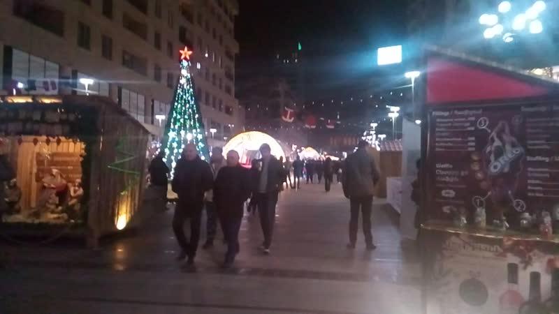 Рождественская ярмарка в Ереване. Северная улица. 14.12.2018