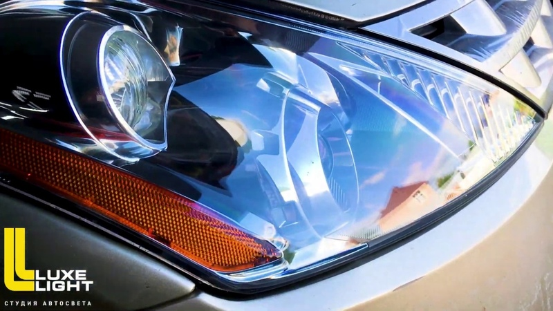 Замена штатных билинз на Hella 3R и комплексная чистка фар Nissan Murano