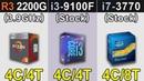 R3 2200G Vs. i3-9100F Vs. i7-3770 RTX 2060 New Games Benchmarks
