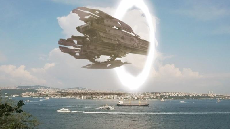 UFO mothership arrives in Turkey through Interdimensional Portal !