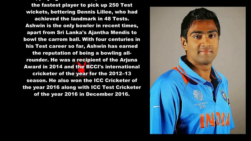 Ravichandran Ashwin Indian Cricketer Biography With Detail