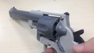 Револьвер распечатанный на 3Д принтере Element3D
