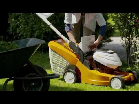 Новые аккумуляторные газонокосилки Stihl RMA