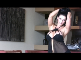 Denise Milani Black Desire ( erotic, эротика, fetish, фетиш, busty, model модель )