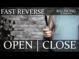 Нож-бабочка. Балисонг трюки, флиппинг для начинающих #14. Fast Reverse Open Close