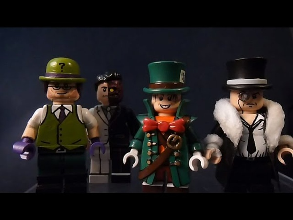 Custom Lego Batman Villain Minifigures Part 2 (The Penguin, Two Face, The Riddler, and Mad Hatter)