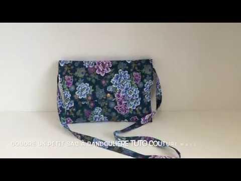 Coudre un petit sac à bandoulière Tuto Couture Madalena