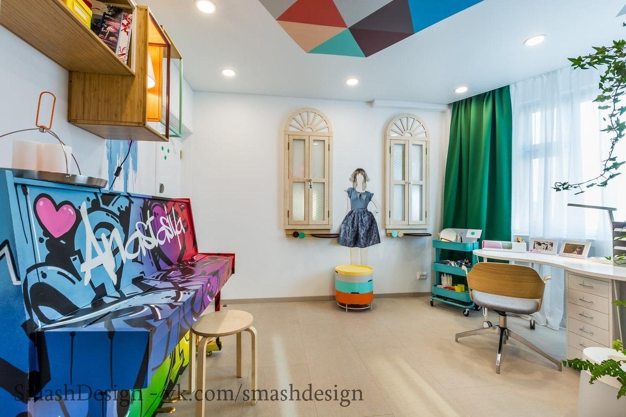 Яркая расцветка детской комнаты