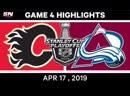NHL Highlights _ Flames vs Avalanche, Game 4 – April 17, 2019