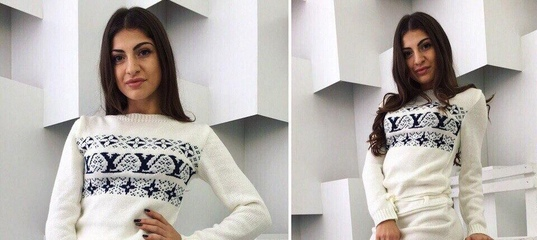 ecc8cc7251e Купить Женское вязаное платье снежинки в Одессе от компании