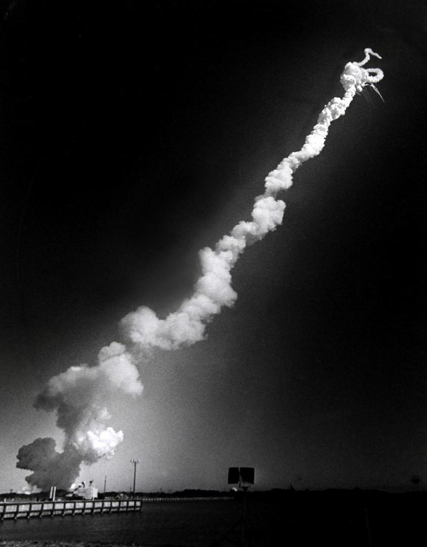 Катастрофа космического челнока «Челленджер», Флорида, 1986 год.