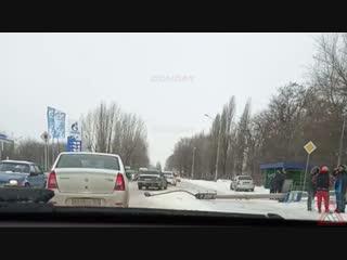 Сбили столб на Харьковском 2018-12-29