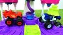 Vidéo en français pour enfants. Blaze et Crusher: la glaçe du PlayDoh
