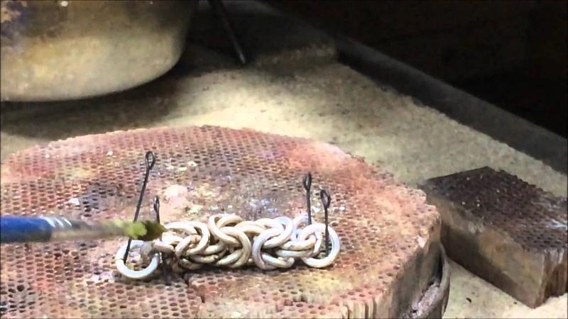 плетение цепи византия, лисий хвост