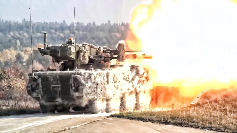 M1128 Mobile Gun 30mm Stryker Dragoon (ICVD) In Action