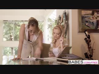 Babes - Hard Lesson starring Brett Rossi and Alex Grey clip