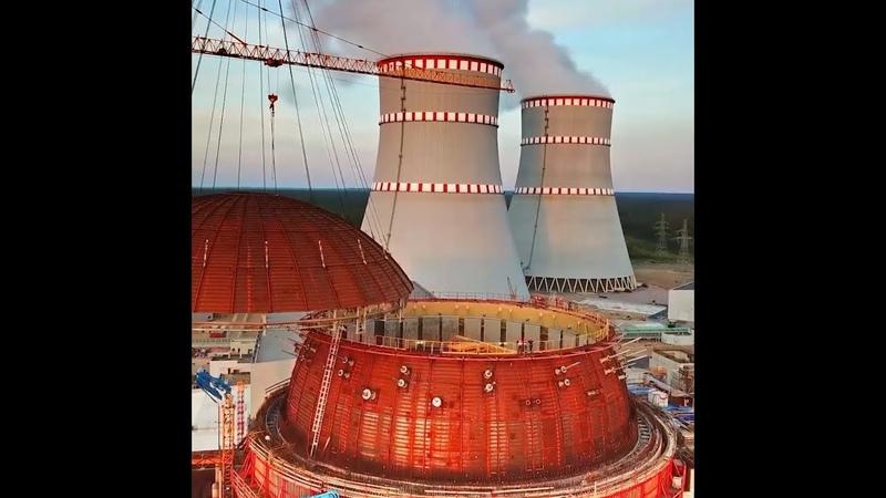Как поставить «крышу» атомного энергоблока весом 200 тонн (ЛАЭС-2)