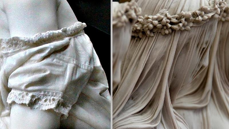Одежда из мрамора как настоящая Как древние это делали