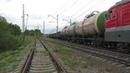 Электровоз ВЛ10У-065 (ТЧЭ-5) с грузовым поездом.