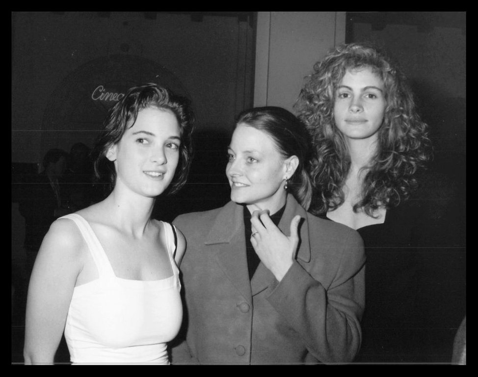 Вайнона Райдер, Джоди Фостер и Джулия Робертс, 1989 год.