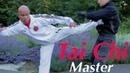 Tai Chi Chuan Master using taiji combat Lesson 7 kick to the chest