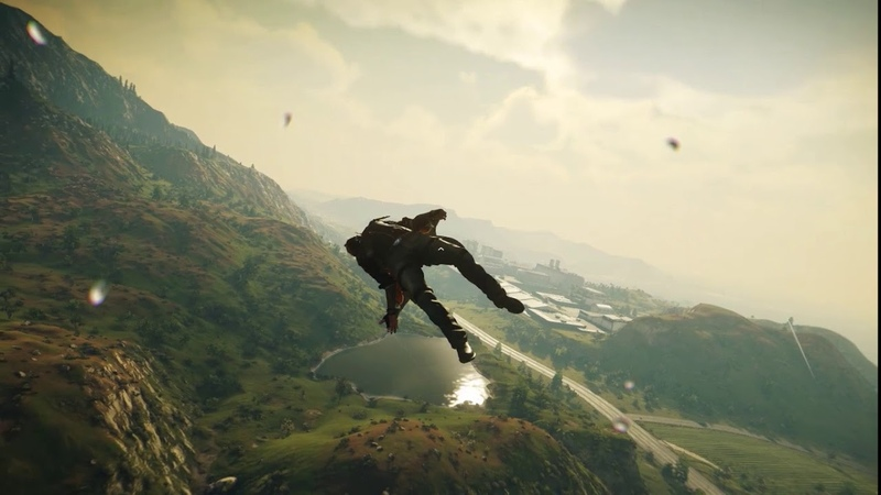 Just Cause 4 Flying a wingsuit