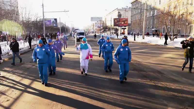 Эстафета огня Зимней универсиады-2019 в Новосибирске