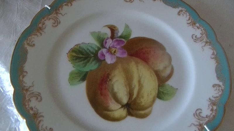 Мои новые лиможские тарелки 1887 года в супер состоянии себе в коллекцию