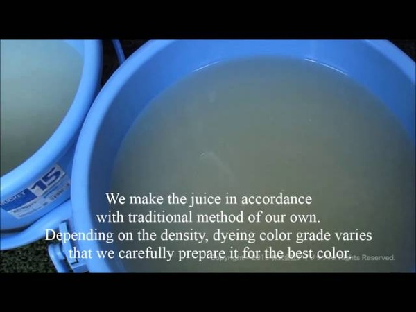 Ji Ire Applying Juice from soybeans to all over the cloth【How to make Kimono No.3】