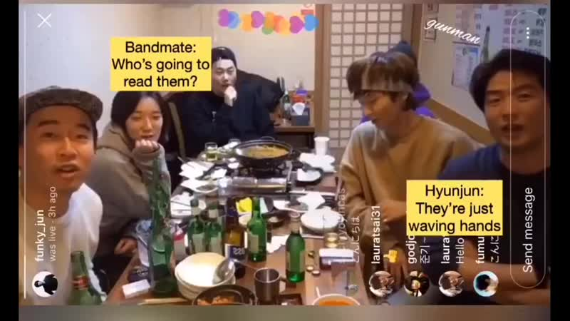 JG appears on producer Hyunjun's Insta Live Eng sub by gunman @jg gm kdrama