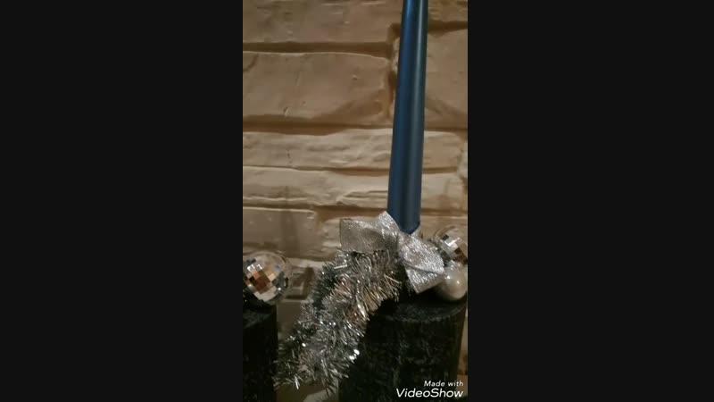Подсвечники в серебристых оттенках