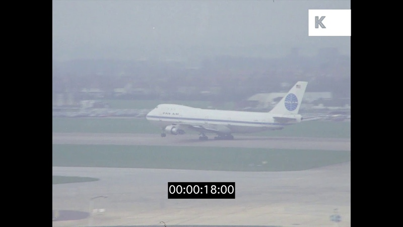 Heathrow Airport, 1969, UK in HD from 35mm