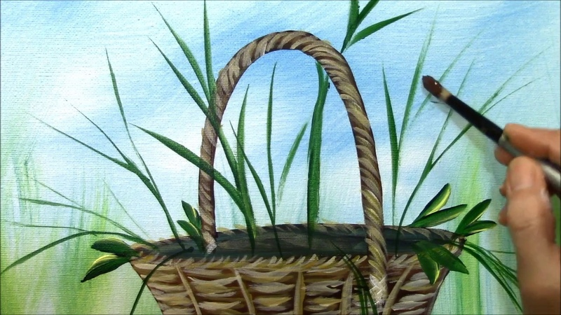 How to paint a Basket of Harvest Flowers ~ Part 2 of 3