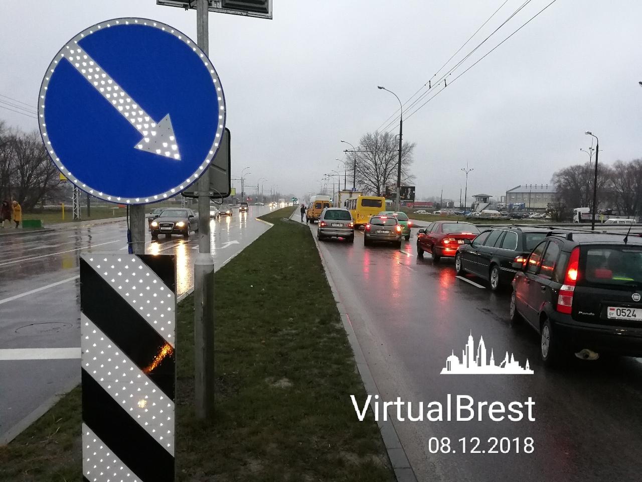 Утром в Бресте из-за ДТП с участием маршрутного такси была перекрыта ул. 28-го Июля