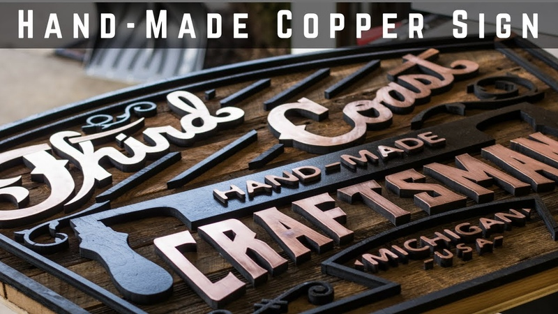 Vintage Looking Copper And Barnwood Logo Sign | Woodworking | How To | DIY
