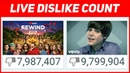 YOUTUBE REWIND 2018 VS JUSTIN BIEBER BABY LIVE DISLIKE COUNT: FIRST VIDEO TO REACH 10M DISLIKES?