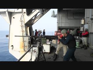 USS John C. Stennis crew-served live fire INDIAN OCEAN 06.12.2018