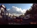 Разборки на дороге В Уфе водитель взял на таран маршрутку