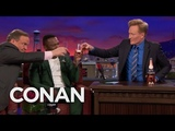 Curtis 50 Cent Jackson Pops A Bottle Of Pink Champagne - CONAN on TBS