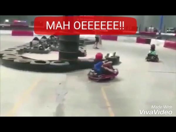 Menina rodando no kart ao som do Pião da Casa Própria Silvio Santos