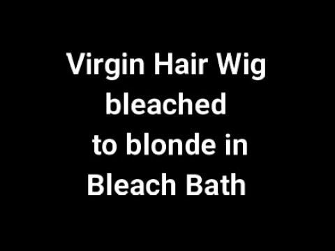 Демонстрация Осветление Парика предлагаем обучение к осветлению волос онлайн платный урок