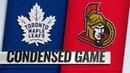 09 19 18 Condensed Game Maple Leafs @ Senators