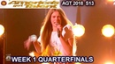 Courtney Hadwin Papa's Got A Brand New Bag AWESOME!!Quarterfinals 1 America's Got Talent 2018 AGT