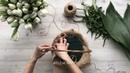 Как быстро и легко сделать композицию из тюльпанов в корзине