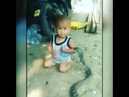 Малыш играл с ядовитой коброй пока взрослые снимали это на видео и умилялись