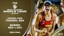 Women's Semi-Final - NED v USA - FIVB Beach Volleyball World Tour - Itapema (BRA) - 4*