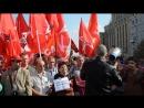 Сергей Удальцов перед митингом выступает перед своими сторонниками